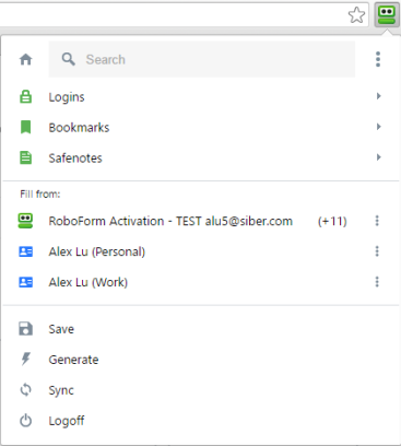 how to get roboform toolbar on top