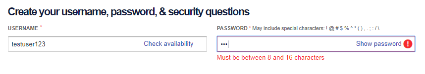 Southwest Airlines Login Screen
